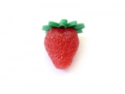 Plastic miniature strawberry
