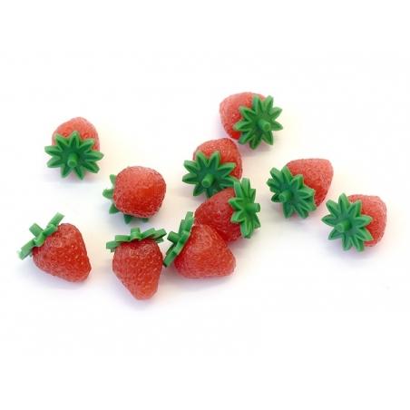 Acheter 1 Fraise miniature en plastique - 1,19€ en ligne sur La Petite Epicerie - Loisirs créatifs