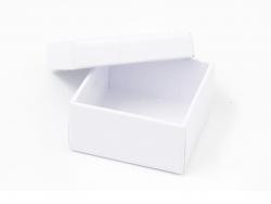 Boite carré - 5 cm - carton blanc