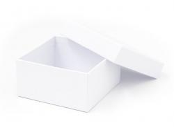 Square box - 9 cm - white cardboard