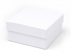 Viereckige Schachtel - 9 cm - weiße Pappe