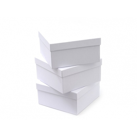Boite carré - 14 cm - carton blanc