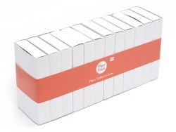 Set of 12 big white matchboxes