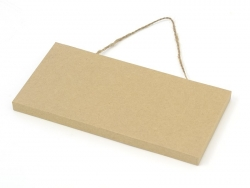 Kraft paper door plate - customisable