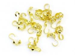 20 goldfarbene Quetschkalotten - Größe L