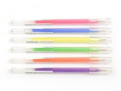 6 gel stylos - 0.8 mm - Neon