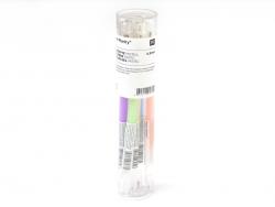 6 stylos gel - 0,8 mm - PASTEL