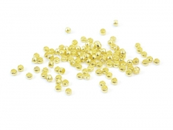100 gold-coloured crimp beads - 2 mm