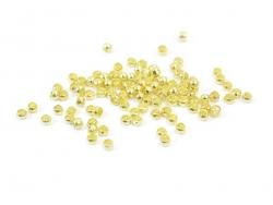 100 goldfarbene Quetschfarben - 2 mm