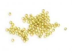 100 perles à écraser couleur or - 2 mm