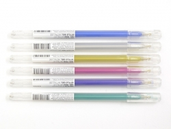 6 gel stylos - 0.8 mm -...