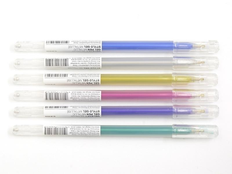 6 gel stylos - 0.8 mm - Metallic Rico Design - 1