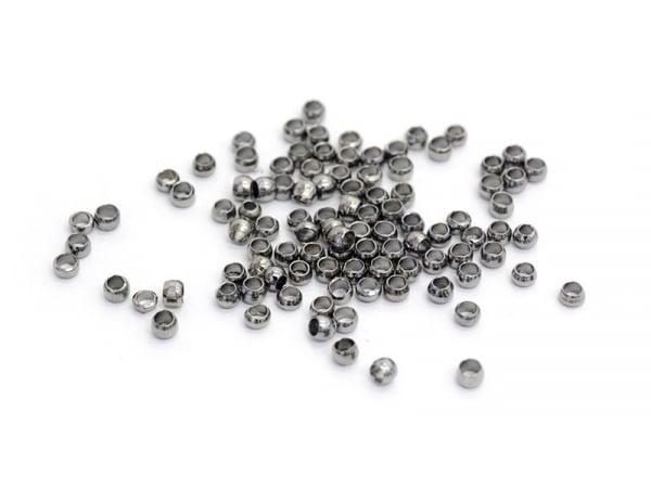 Acheter 100 perles à écraser noir métallisé - 1 mm - 1,59€ en ligne sur La Petite Epicerie - Loisirs créatifs