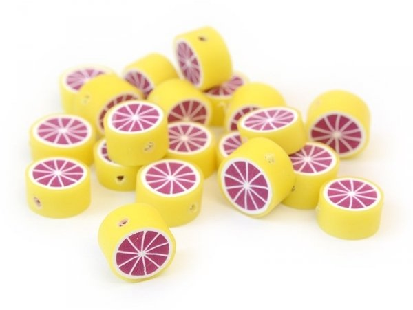 20 grapefruit beads