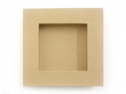 Frame - inner square size of 22 cm x 22 cm - kraft paper - customisable