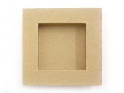 Rahmen - inneres Viereck 22 cm x 22 cm - Kraftpapier - zur individuellen Gestaltung