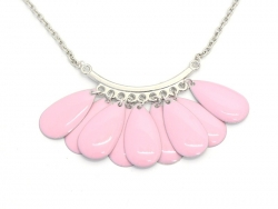 1 emaillierter Tropfenanhänger - rosa