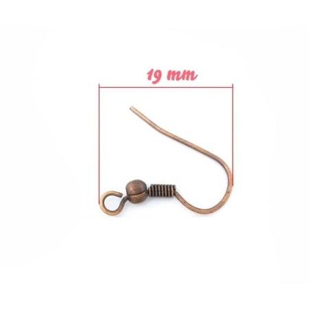 10 paires de boucles d'oreilles cuivrées  - 2
