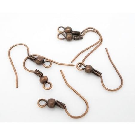 10 paires de boucles d'oreilles cuivrées  - 3