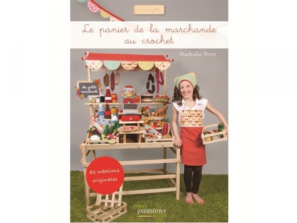 """French book """" Le panier de la marchande au crochet - Nathalie Petit"""""""