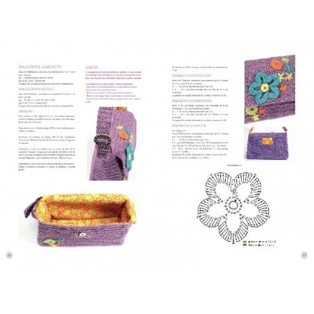 """French book """" Le crochet, c'est branché ! - Nathalie Petit"""""""