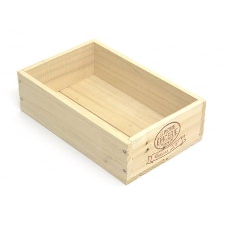 Caissette en bois La Petite Epicerie petit coté