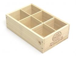 Holzkiste von La Petite Épicerie - mit 6 Fächern