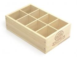 Holzkiste von La Petite Épicerie - mit 8 Fächern
