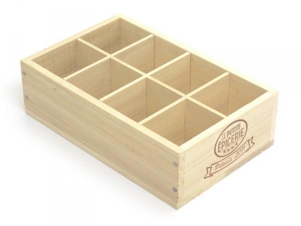 grande caissette en bois la petite epicerie la petite epicerie. Black Bedroom Furniture Sets. Home Design Ideas