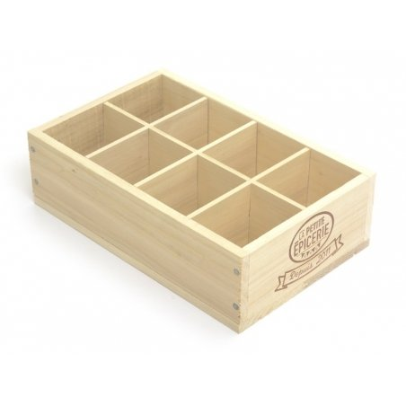 Acheter Caissette en bois La Petite Epicerie - 8 compartiments petit coté - 9,90€ en ligne sur La Petite Epicerie - Loisirs ...
