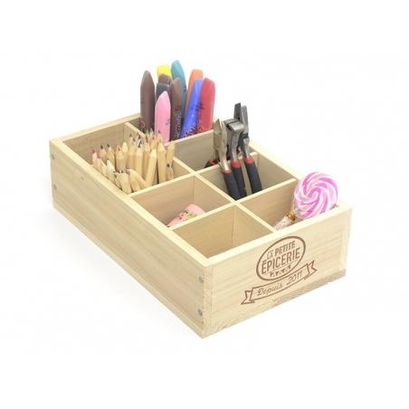 La Petite Épicerie wooden box - 8 compartments
