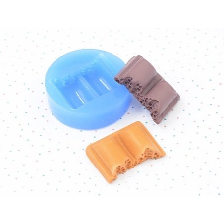 Silicone mould - piece of chocolate