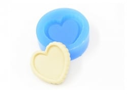 Silicone mould - heart-shaped cake base