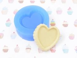 Silicone mould - heart-shaped cake base