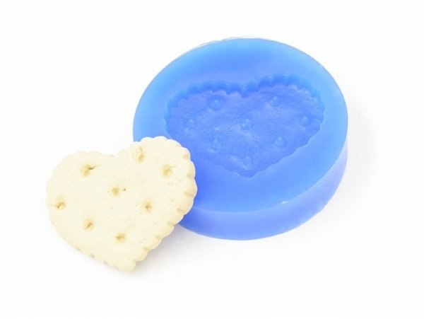 Silicone mould - big heart biscuit