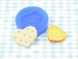 Moule en silicone - Biscuit grand coeur