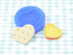 Silikonform - Keks mit großem Herzen