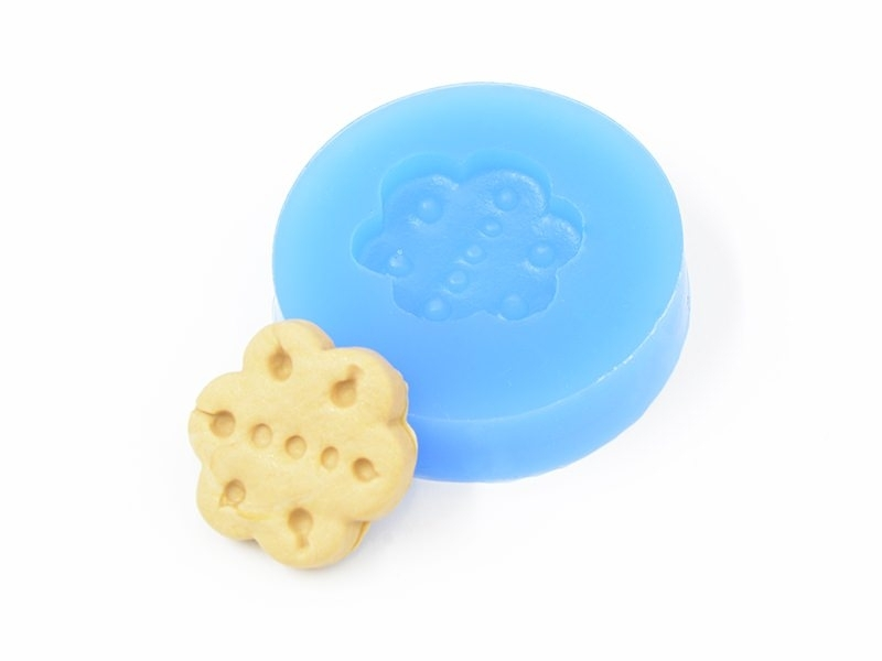 Silicone mould - flower-shaped biscuit