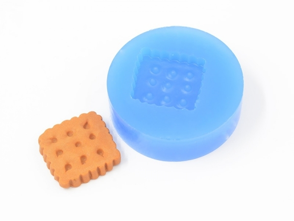 Silicone mould - square biscuit