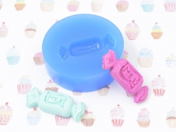 """Silicone mould - candy with the word """"milk"""""""
