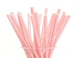 25 paper straws - Pink