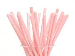 25 Papierstrohhalme - rosa