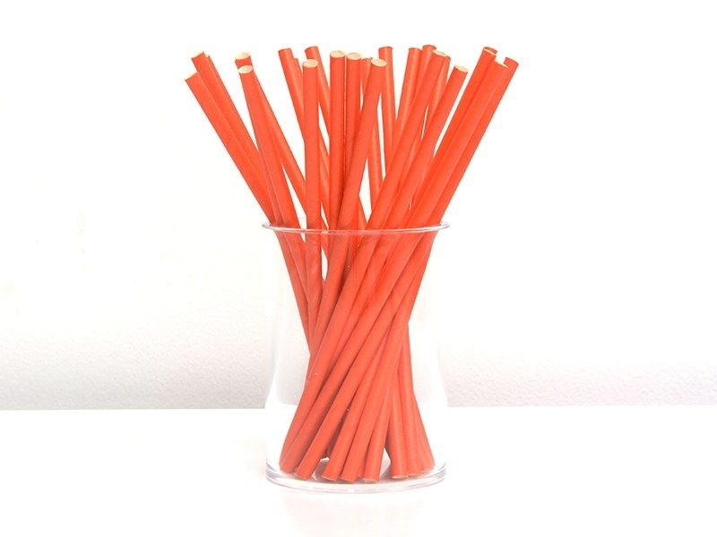 25 paper straws - Red