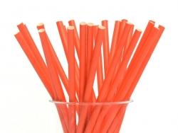 25 Pailles en papier - rouges