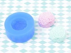 Silikonform - Eiskugel mit Struktur