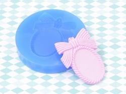 Silicone mould - Frame with a bow