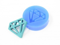 Silicone mould - diamond