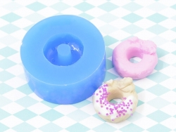 Silikonform - Donut mit Sahnehaube und einem kleinen Herzen