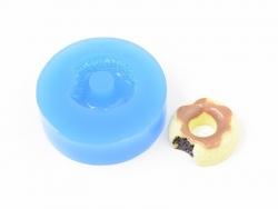 Silikonform - angebissener Donut mit Fruchtsoße