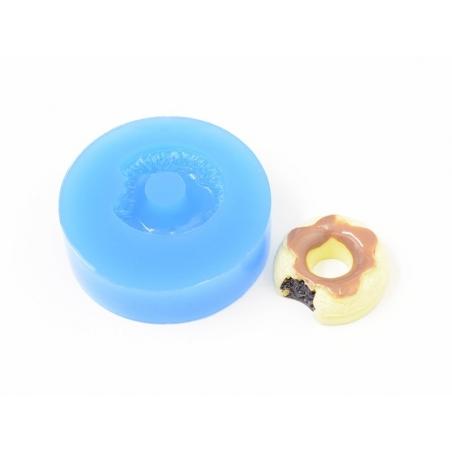 Moule en silicone - Donut croqué avec coulis